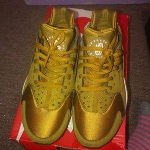 Gold Nike Huaraches